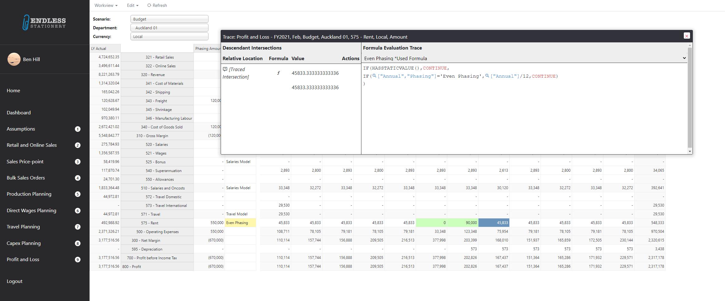MODLR's new formula function